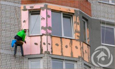 Внутренее и наружное утепление балкона, лоджии цена.